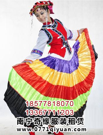 彝族大摆裙彝族舞蹈服