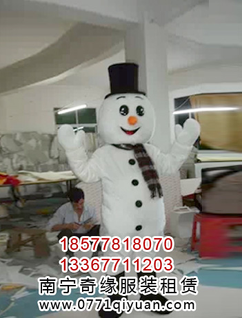 雪人卡通人偶服装出租