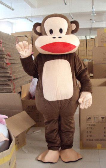 大嘴猴子人偶行走南宁卡通服装出租猴子宣传玩偶道具服饰