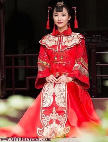 中国风喜服中式婚礼秀禾装新娘服