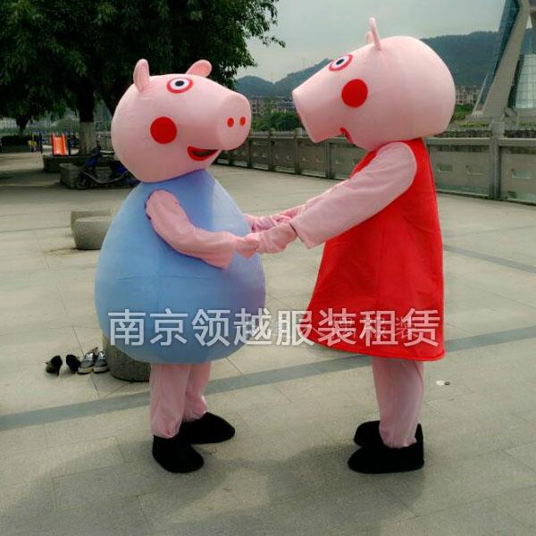 小猪佩奇卡通人偶服装出租抖音同款